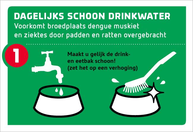 tip 1: dagelijks schoon drinkwater